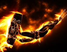 Flaming Kiter